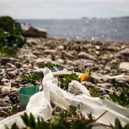 Plastic pollution at the island of Kornö. Greenpeace is documenting plastic pollution at the island Kornö outside of Lysekil on the Swedish west coast.