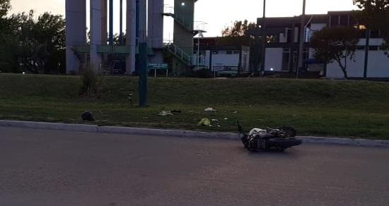 accidente boulevard moto sola